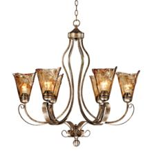 "Franklin Iron Works Amber Scroll 31 1/2"" Wide Chandelier"