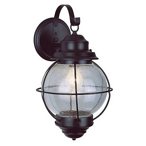 "Tulsa Lantern 19"" High Black Outdoor Wall Fixture"