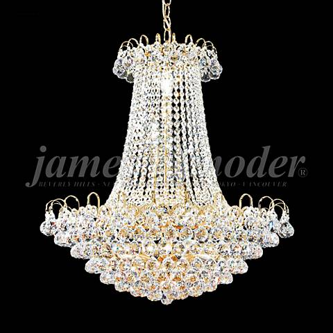 "James Moder Jacqueline 24""W Gold Empire Crystal Chandelier"