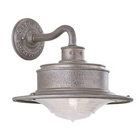 "South Street 10 1/4"" High Outdoor Galvanized Wall Light"