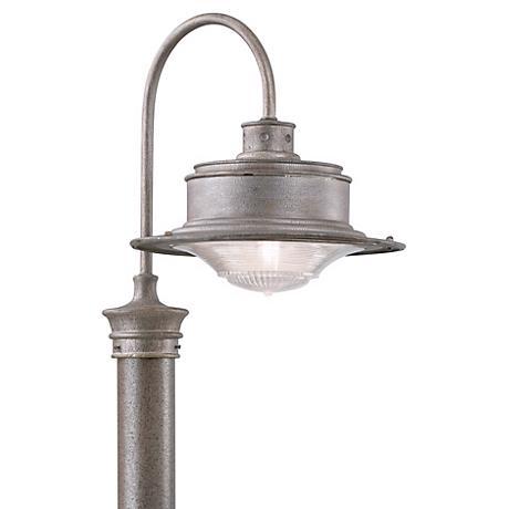 "South Street 17"" High Outdoor Galvanized Post Light"