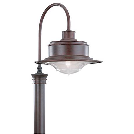 """South Street 20  1/2"""" High Outdoor Old Rust Post Light"""
