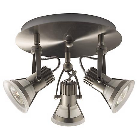 Vortex 3 Satin Nickel Ceiling Light Fixture