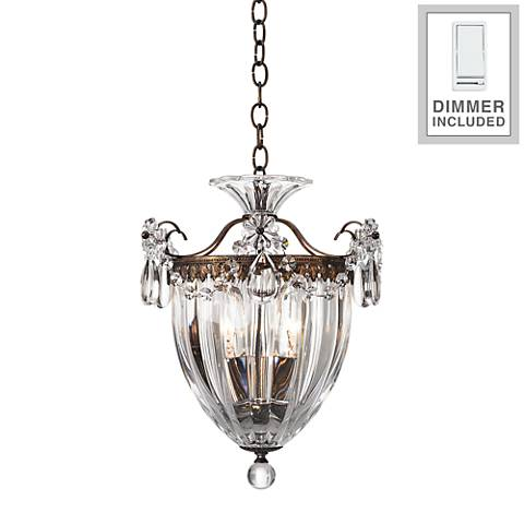 "Schonbek Bagatelle 10 1/2""W Crystal Mini Pendant with Dimmer"