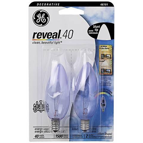 Blunt–Tip 40 Watt Candelabra Base 2–Pack Light Bulbs