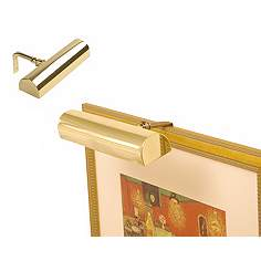 concept 7 34 wide polished brass cordless picture light
