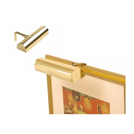 """Concept 7 3/4"""" Wide Polished Brass Cordless Picture Light"""