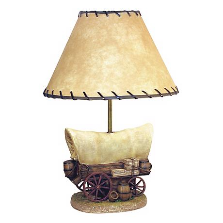Covered Wagon Table Lamp