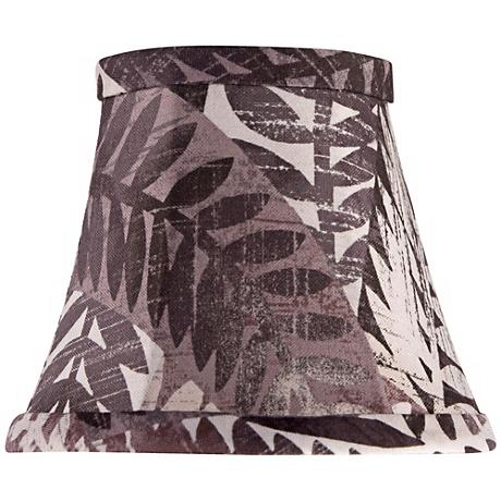 Brown Palms Bell Lamp Shade 3.5x6x5 (Clip-On)
