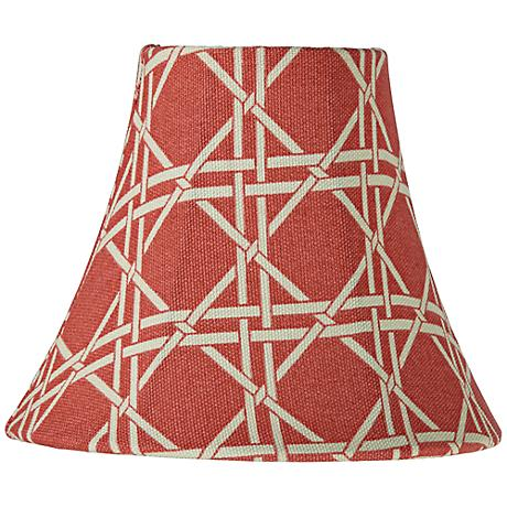 Melon Pink Cane Print Bell Lamp Shade 3x5x5 (Clip-On)