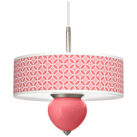 """Rose Circle Rings Cleo 16"""" Wide Pendant Chandelier"""
