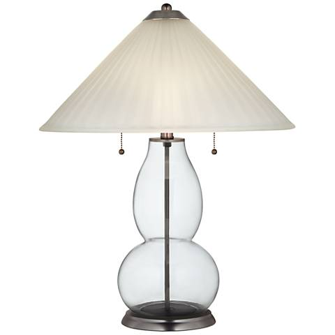 Clear Fillable Fulton Table Lamp with Fluted Glass Shade