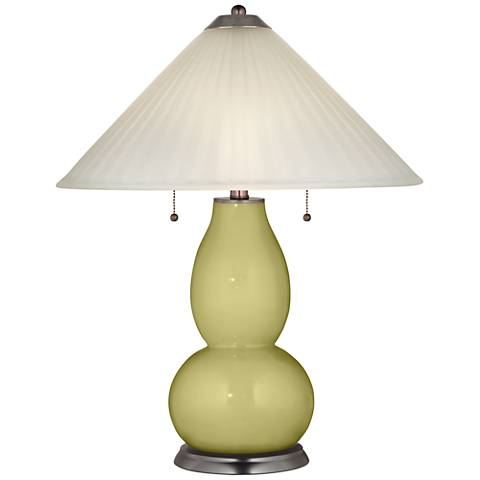 Linden Green Fulton Table Lamp with Fluted Glass Shade