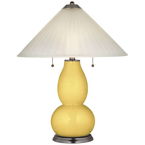 Daffodil Fulton Table Lamp with Fluted Glass Shade