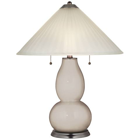 Pediment Fulton Table Lamp with Fluted Glass Shade