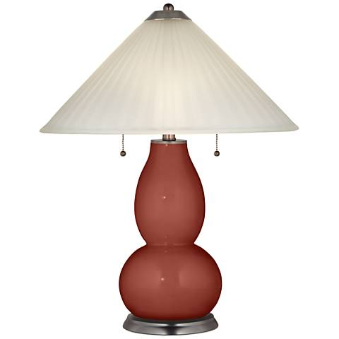 Madeira Fulton Table Lamp with Fluted Glass Shade