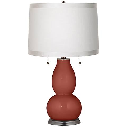Madeira White Drum Fulton Table Lamp