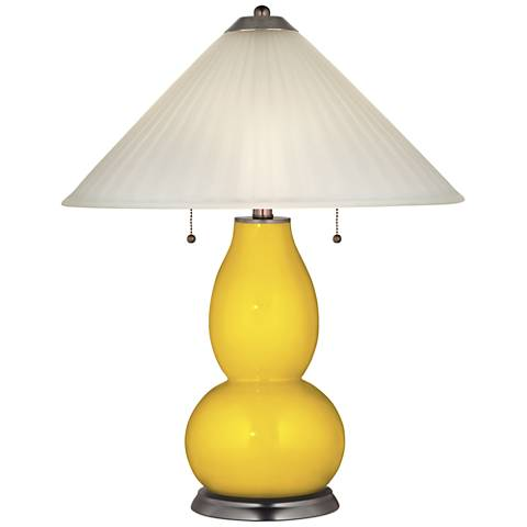 Citrus Fulton Table Lamp with Fluted Glass Shade