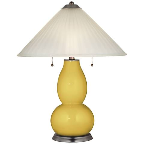 Nugget Fulton Table Lamp with Fluted Glass Shade