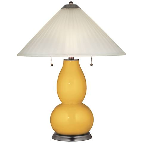 Goldenrod Fulton Table Lamp with Fluted Glass Shade