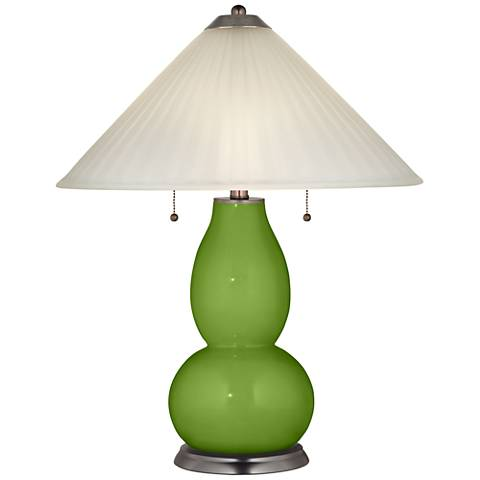Gecko Fulton Table Lamp with Fluted Glass Shade
