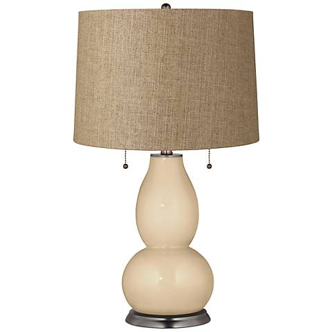 Colonial Tan Tan Woven Fulton Table Lamp