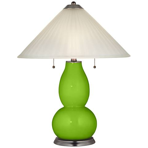 Neon Green Fulton Table Lamp with Fluted Glass Shade