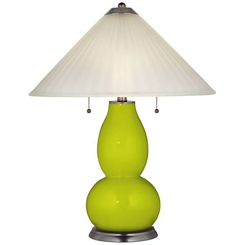 Pastel Green Fulton Table Lamp with Fluted Glass Shade
