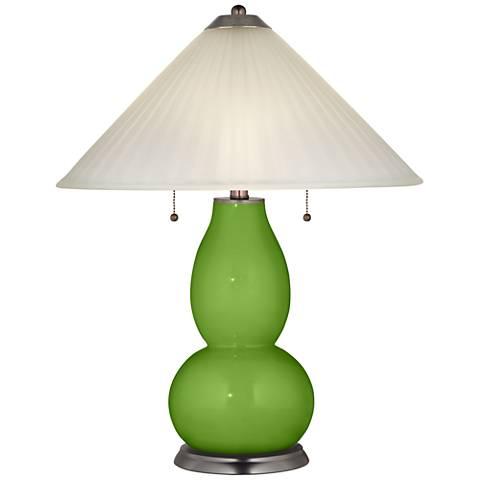 Rosemary Green Fulton Table Lamp with Fluted Glass Shade