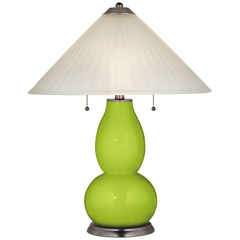 Tender Shoots Fulton Table Lamp with Fluted Glass Shade