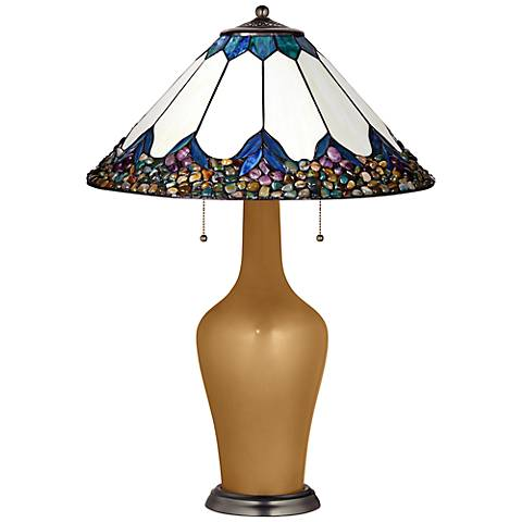 Clara Lamp in Light Bronze Metallic with River Stone Shade