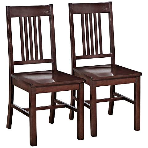 Meridian Cappuccino Wood Dining Chair Set of 2