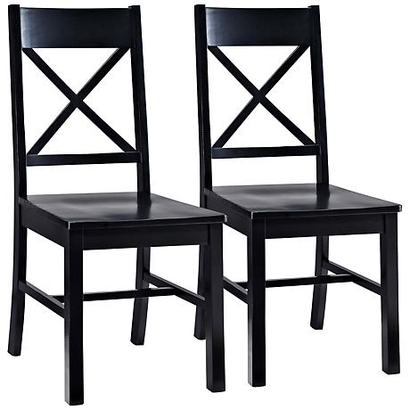 Millwright Brown Wood Dining Chair Set of 2