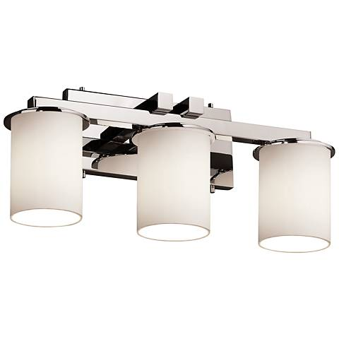 "Justice Design Dakota 29"" Wide Nickel 3-Light Bathroom Light"