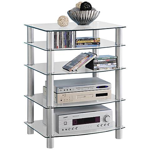 Everest Silver 5-Tier Steel Component Stand
