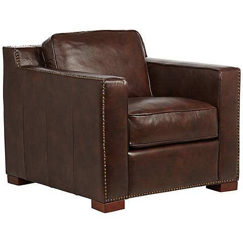Benson Chocolate Leather Chair