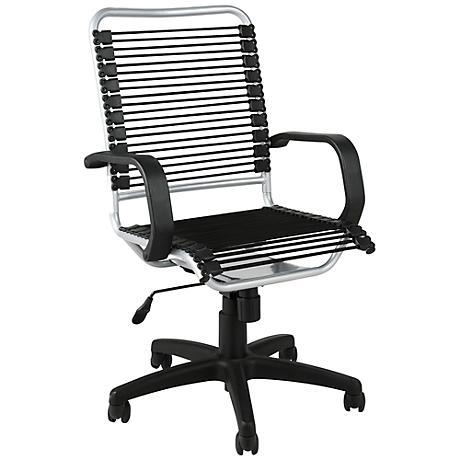 Bradley Black Bungie Aluminum Office Chair