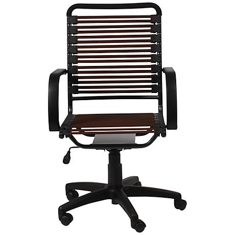 Bungie Brown Flat High Back Graphite Office Chair