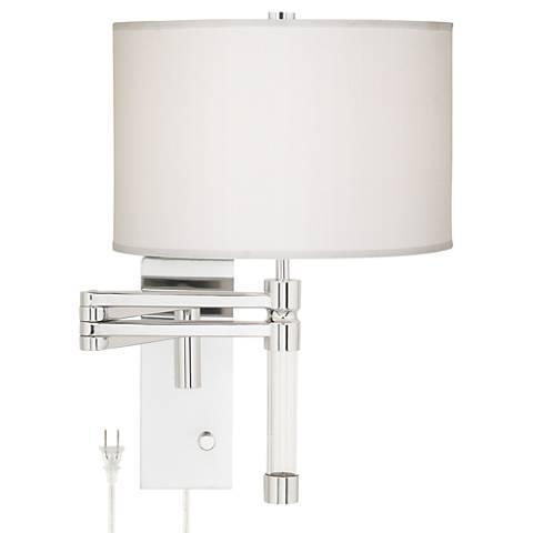 Possini Euro Villasor Chrome Plug-In Swing Arm Wall Lamp