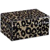 Golden Cheetah Black Jewelry Box