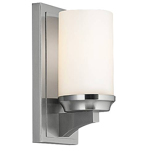 """Feiss Amalia 9 1/2"""" High Brushed Steel Wall Sconce"""