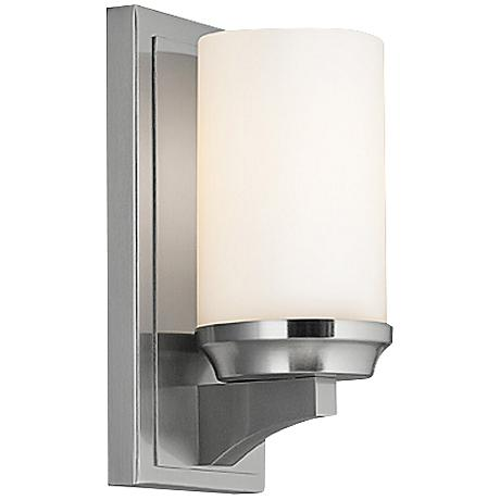 "Feiss Amalia 9 1/2"" High Brushed Steel Wall Sconce"