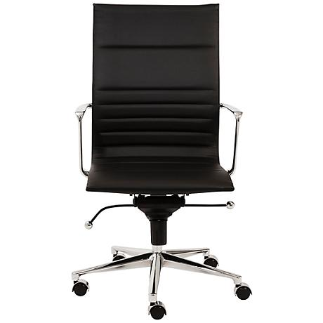 Kyler High Back Black Faux Leather Office Chair