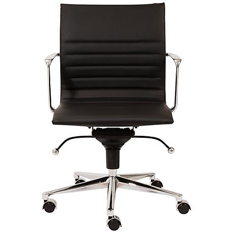 Kyler Low Back Black Faux Leather Office Chair