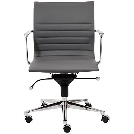 Kyler Low Back Gray Faux Leather Office Chair