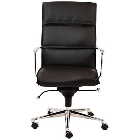 Leif High Back Black Faux Leather Office Chair