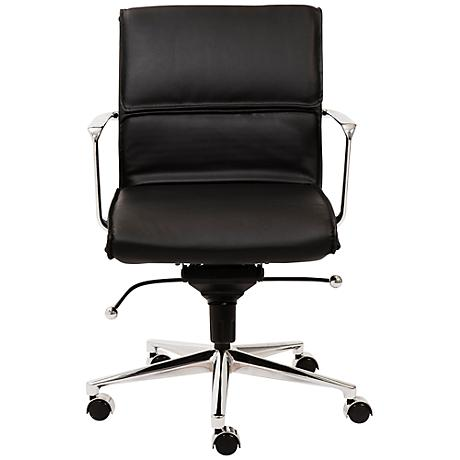 Leif Low Back Black Faux Leather Office Chair