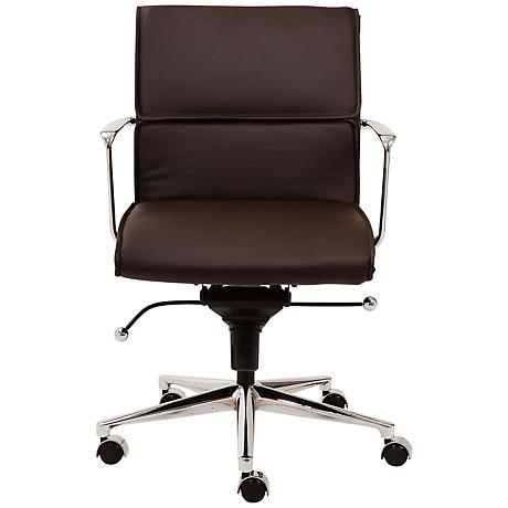Leif Low Back Gray Faux Leather Office Chair