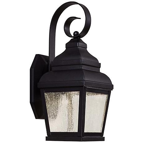 "Mossoro 14 1/4"" High Black LED Outdoor Wall Light"
