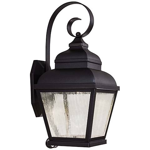 "Mossoro 17 3/4"" High Black LED Outdoor Wall Light"